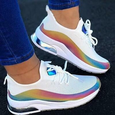 Womens Shoes Ladies Lace Up Chunky Sole Air Max Sports Sneakers Trainers Shoes
