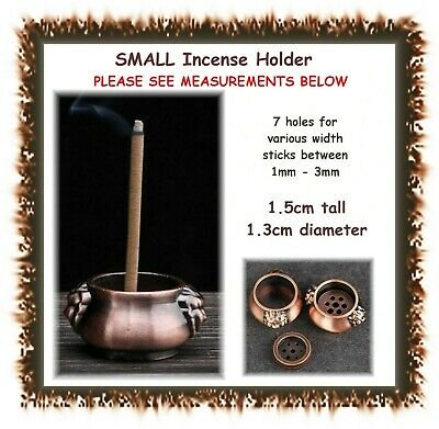 SMALL incense burner / holder - 7 holes for sticks 1mm-3mm- insense cone
