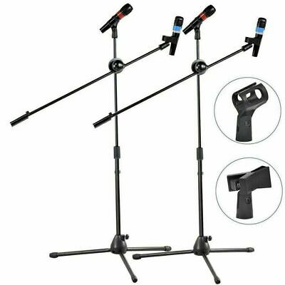 Professional Boom Microphone Mic Stand Holder Adjustable With Free Clips