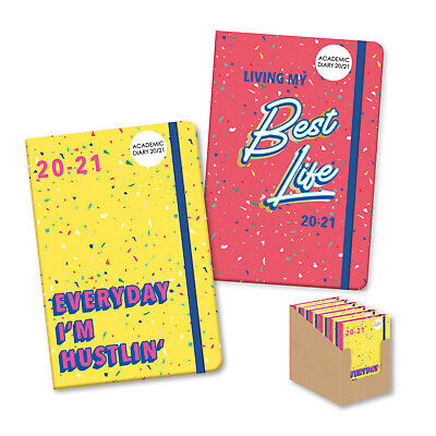 A5 Confetti Celebration Week to View Mid-Year Academic Diary 2020-21 Soft Cover