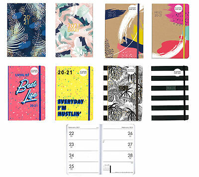 A5 Hello 20-21 Student Week to View Mid-Year Academic Diary 2020-2021 Soft Cover