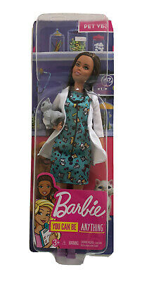Pet Vet 60th Anniversary Barbie You Can Be Anything Doll 10.5/""