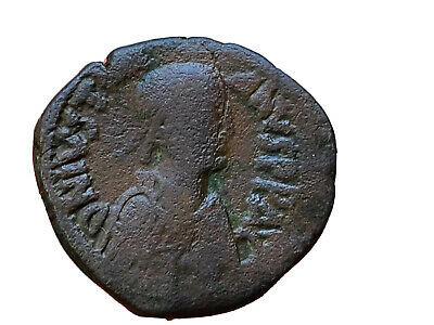 527 - 565 AD Justinian I Byzantine Empire AE Follis Bust Right 32mm Ancient Coin