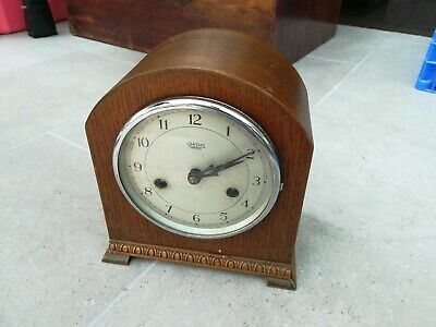 Vintage Smiths Enfield Mahogany Cased Mantle Clock