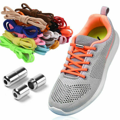 Easy No Tie LazyLaces Shoe Laces Adults Kids Trainers Elastic ShoeLaces Quickly