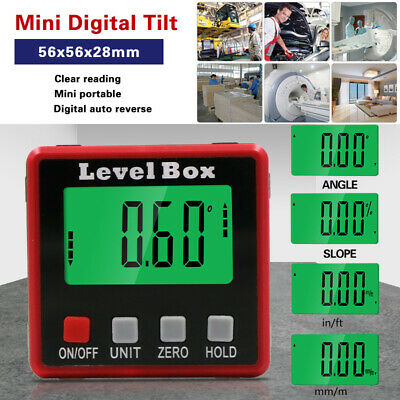 Digital Level Box Protractor Angle Finder Bevel Gauge Magnetic Inclinometer
