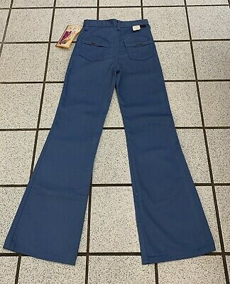 Vintage Girls Bell Bottom Jeans Hippie Disco 24 X 27 Flare 1970s NEW Sz 10