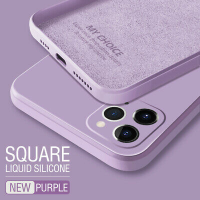 Square Phone Case For iPhone 11 Pro Max XS XR 8 7 6S Liquid Silicone Soft Cover