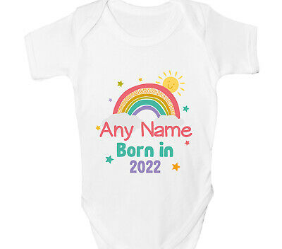 Personalised Born In Lockdown Baby Grow Boys Girls Vest Any Name Stay Safe Gift