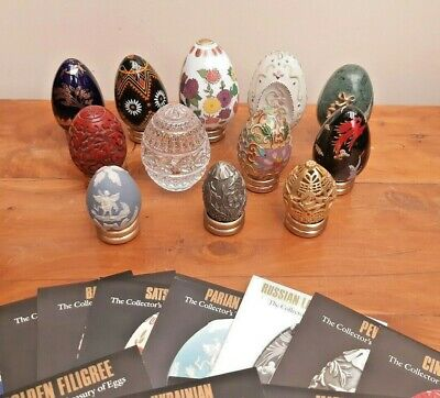 PEWTER Franklin Mint Treasury of Eggs Circa Late 1980/'s
