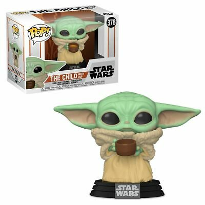 """Star Wars The Mandalorian The Child With Cup 3.75"""" Pop Vinyl Funko 378 Baby Yoda"""
