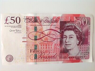 Bank Of England (£50) Fifty Pound Banknote Unc Uncirculated C.salmon Ah12-948277