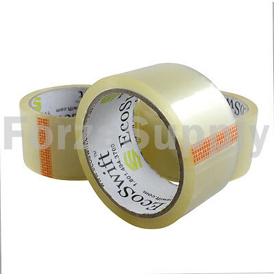 """2"""" EcoSwift Clear Packing Tape for Packaging Carton Box Moving Shipping Tape Gun"""
