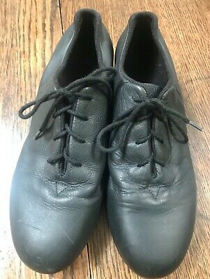 Nice Bloch Shockwave 02 Ladies Black Leather Tap Shoes Size 8M Lightly Worn
