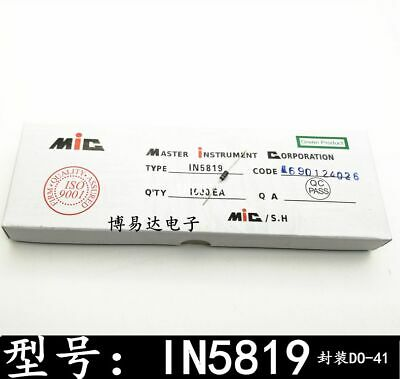 10Pc 1N5819 In5819 Do-41 1A 40V #A2