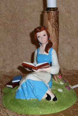 Disney Beauty & the Beast princess belle reading lamp library light Vintage rare