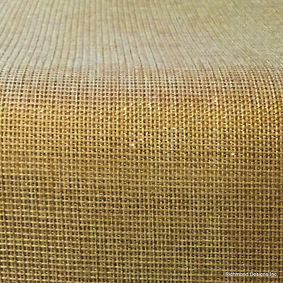 Antique Radio Grille/Speaker cloth, Gold Lurex, TWO FOR ONE  See description
