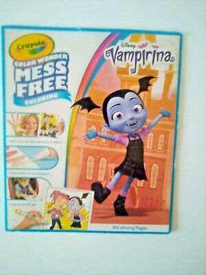 VAMPIRINA On-the-Go ART SET Carry Along PAGES /& Watercolor PAINTS Easter Basket