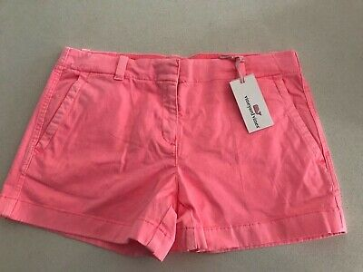 Vineyard Vines Girls Every Day Short Washed Neon Pink Size 14 New with Tags