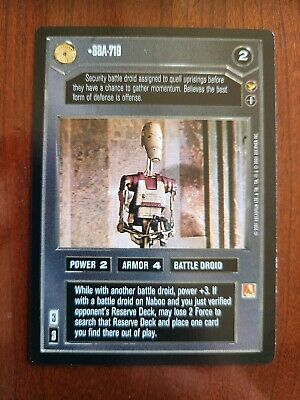 Star Wars CCG SWCCG TT-9 Theed Palace Rare Card Collection