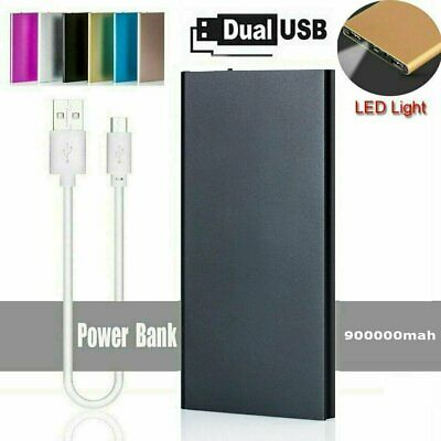 Portable 900000mAh Battery Charger Power Bank LED Dual USB For All Mobile Phone