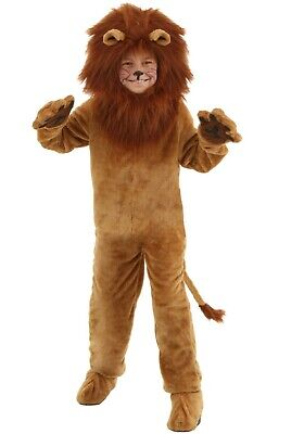 Kid's Deluxe Cowardly Lion Wizard of Oz Costume Size XS S M L (Used)
