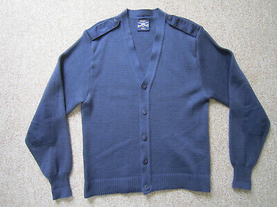 USAF MILITARY AIR Force Elbow Patch Cardigan Sweater Made in