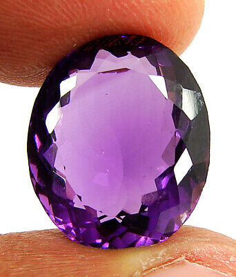 Natural Purple Amethyst Gem 11x9MM 5.58cts Oval Faceted Cut AAA VVS Loose Gems