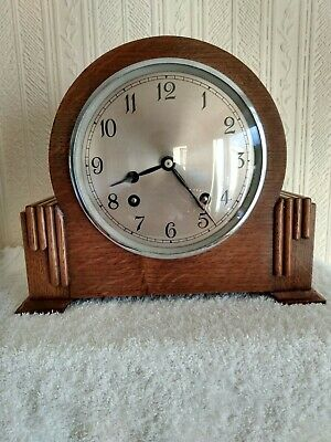 Quality vintage Garrard striking mantel clock serviced and in full working order