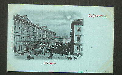 1901 Imperial Russia St. Petersburg Photo of Hotel Europe to Paris