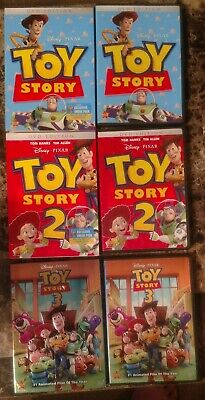 Toy Story Trilogy Collection DVD Lot Complete Set w Slipcovers 2 3 Disney Pixar