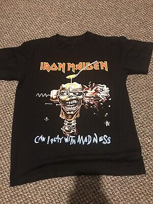 Iron Maiden XL Vintage Maiden England World Tour Can I Play With Madness T Shirt