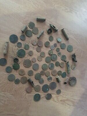 Metal detecting finds coins And Roman Coins rare finds old