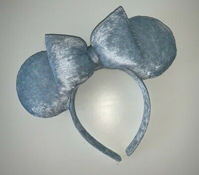 Handmade Disney inspired Baby blue velvet Mouse Ears