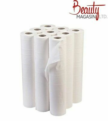 "Premium Quality White 20"" Couch Roll (9 Rolls)."
