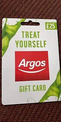 Argos Gift Card Voucher With Total Value Credit £25 Balance Verified