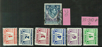 Northern Rhodesia Postage Due Used and MH #1087