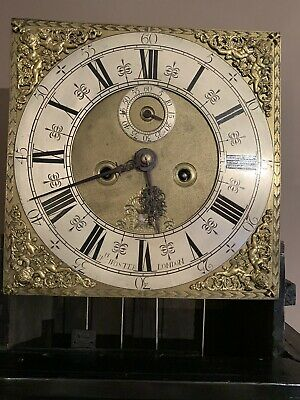 Antique Ebonised Longcase Grandfather Clock 8 Day Strike