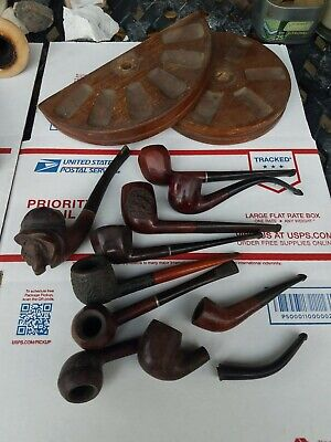 Vintage Estate Pipes Tobacco Smoking Lot of 10 pipes*Drinkless* Briar**Italian*