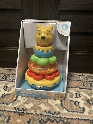 Disney Baby Winnie the Pooh Stacking Rings Music Sing Toy Infant Toddler NEW