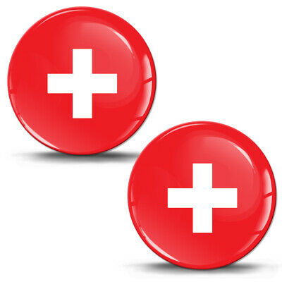 3D Gel Sticker Swiss Flag Switzerland Decal Car Motorcycle Helmet Logo Emblem
