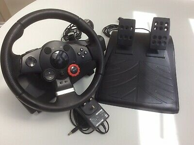 Logitech Driving Force GT Steering Wheel, Pedals & Power Cable PS3 PlayStation