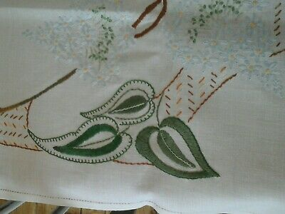 A selection of hand embroidered cotton place mats and table covers