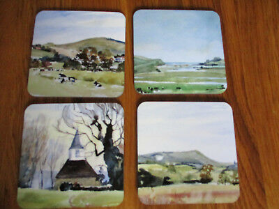 Set of four coasters East Sussex Scenes by Jackie Hurwood