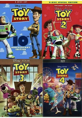 Toy Story  1,2,3,4 Triology New Bundle Complete (DVD)