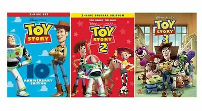 Toy Story 1 2 3 Trilogy New Bundle Complete Collection DVD Free Shipping