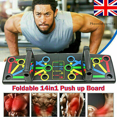 18 in1 Push-up Board Stand Fitness Workout Gym Chest Muscle Training Exercise UK