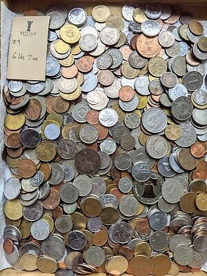 6 POUNDS 7 OZs of ASSORTED WORLD Foreign COINS.. BULK Lot from a few sources #9