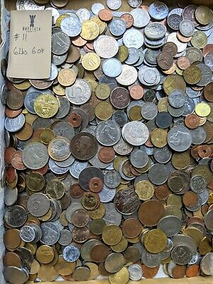 6 POUNDS 6 OZs of ASSORTED WORLD FOREIGN COINS.. BULK Lot from a few sources #11