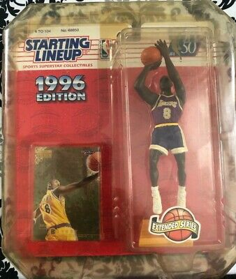 1996 Kobe Bryant Starting Lineup Extended Rookie Figure w// Skybox Rookie Card